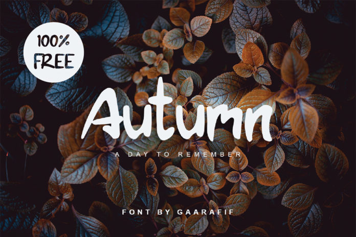 Free Autumn Brush Font