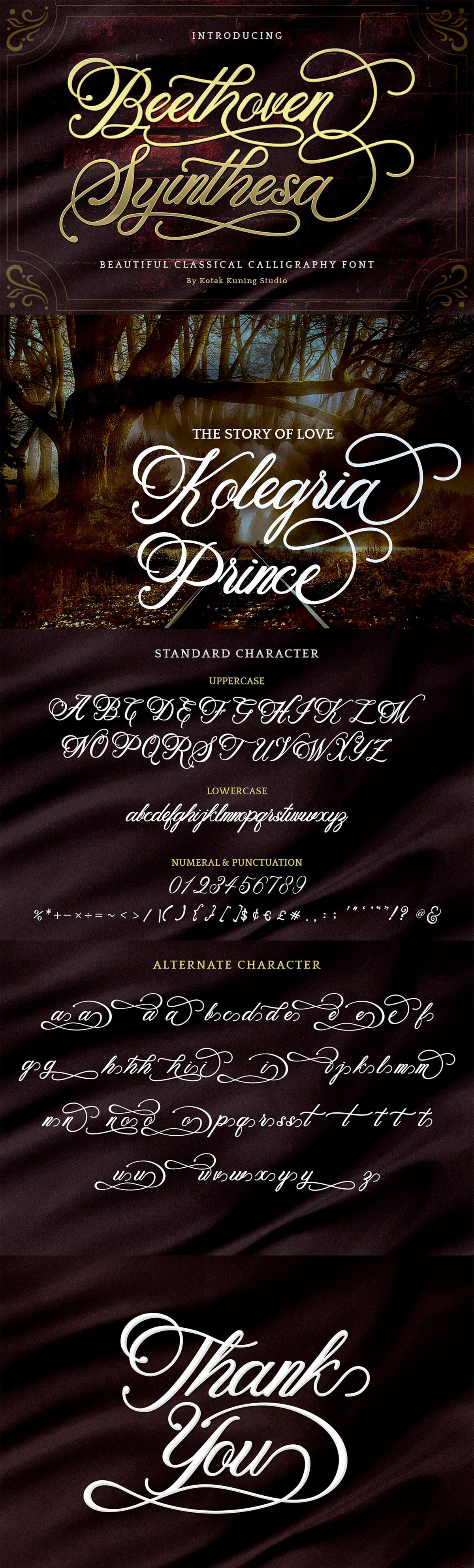 Free Beethoven Syinthesa Calligraphy Font