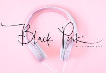 Free Black Pink Signature Font