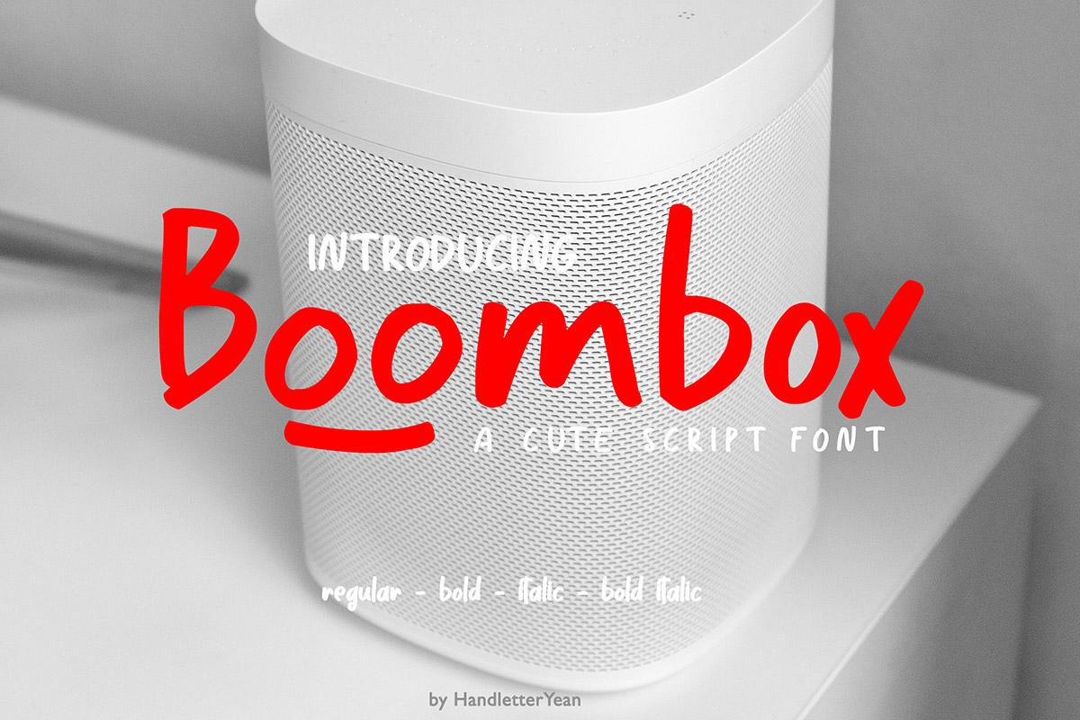 Free Boombox Script Font