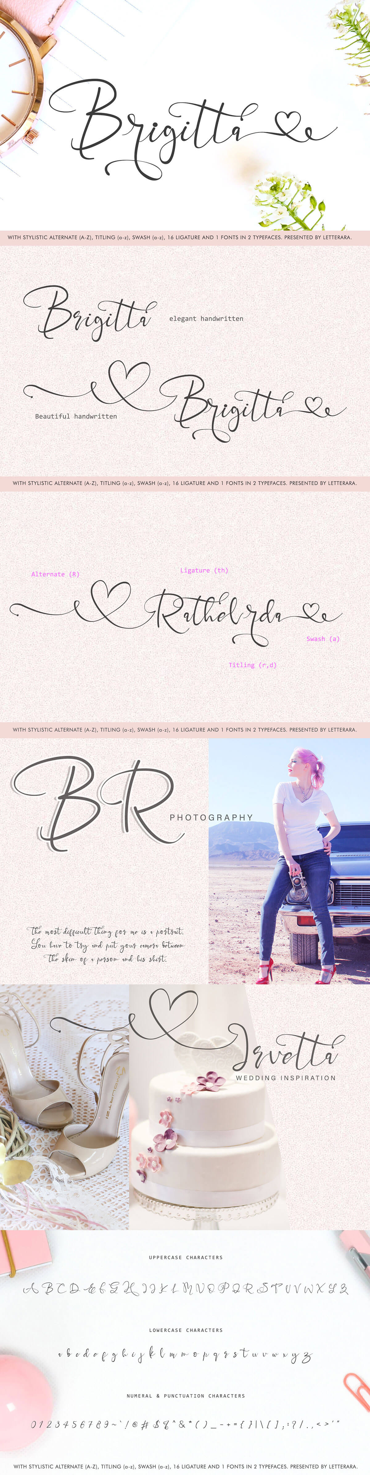 Free Brigitta Handwritten Font