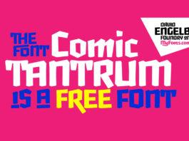 Free Comic Tantrum Display Font