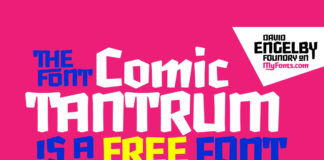 Free Comic Tantrum Display Font