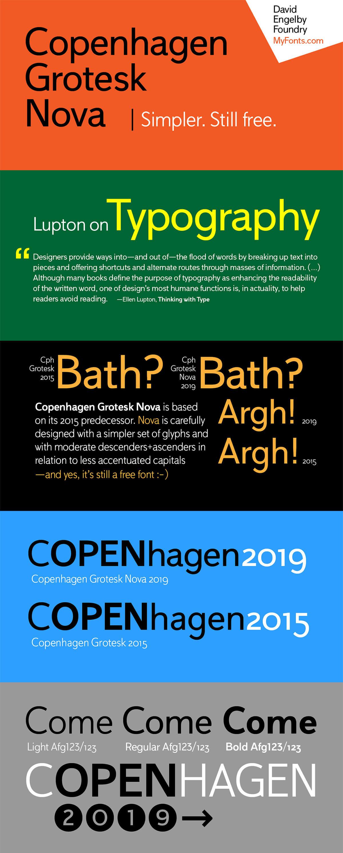 Free Copenhagen Grotesk Nova Sans Serif Font Family