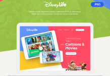 Free Disney Life Website PSD Template