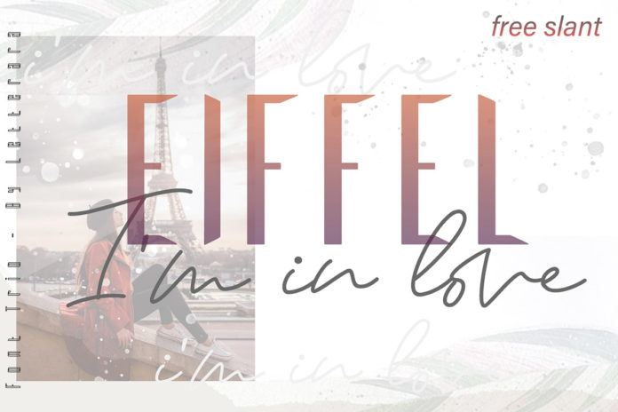 Free Eiffel In Love Trio Font