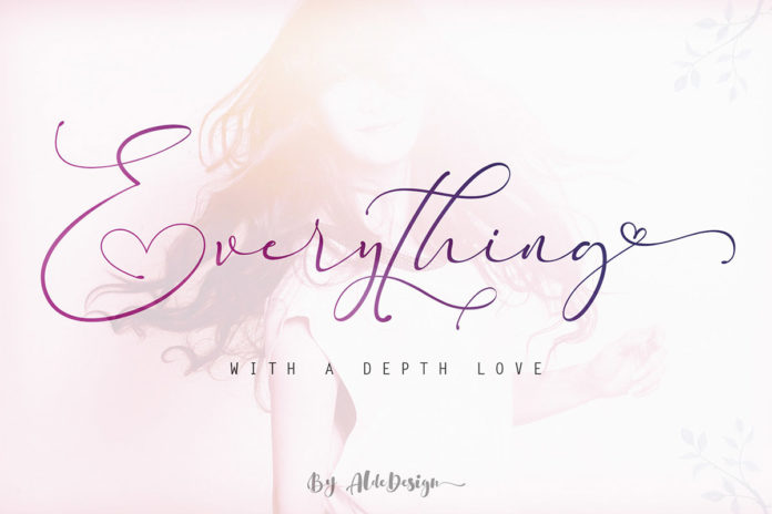 Free Everything Calligraphy Font