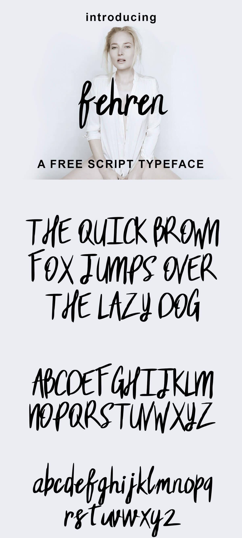 Free Fehren Script Font