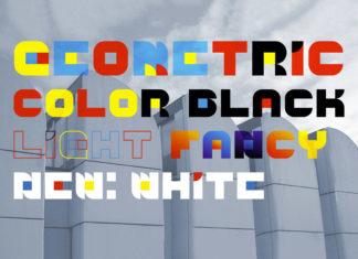 Free Geometric Color Font Family