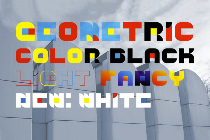 Free Geometric Color Font Family
