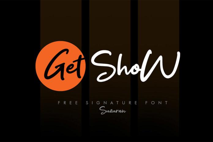 Free Get Show Script Font