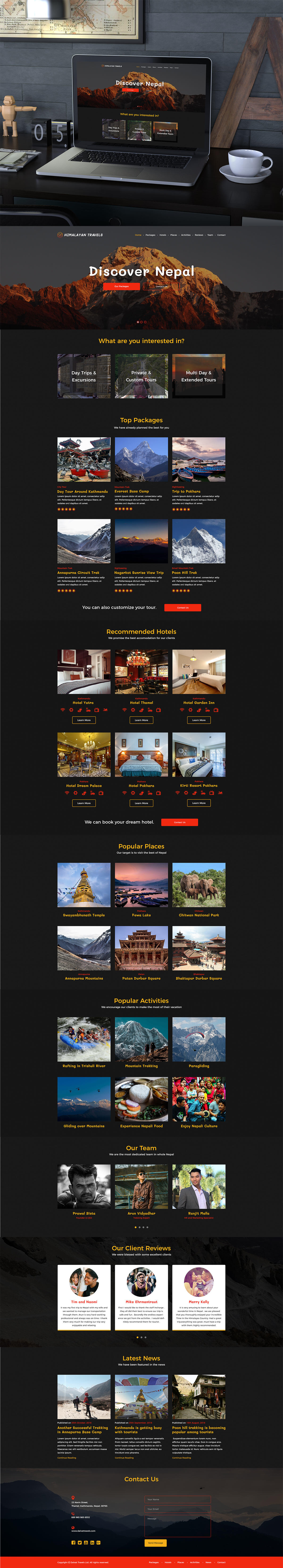 Free Himalayan Travels PSD Template