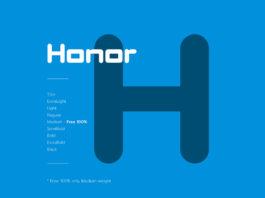Free Honor Display Font