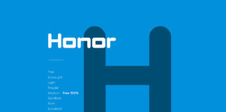 Free Honor Display Font