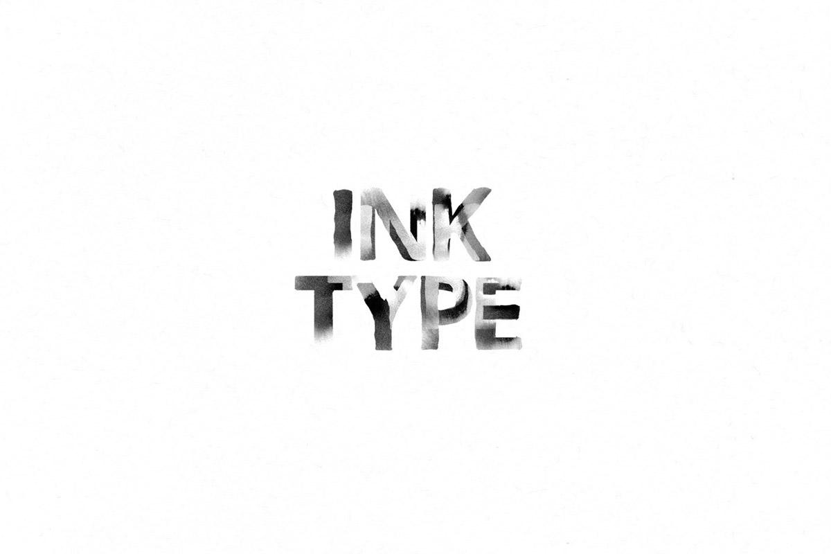 Free Ink Type Brush Font
