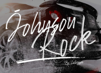 Free Johnson Rock Brush Font
