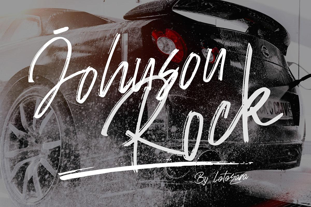 Free Johnson Rock Brush Font