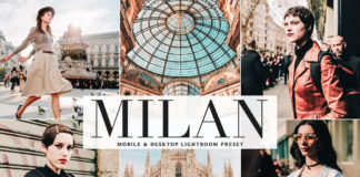 Free Milan Lightroom Preset
