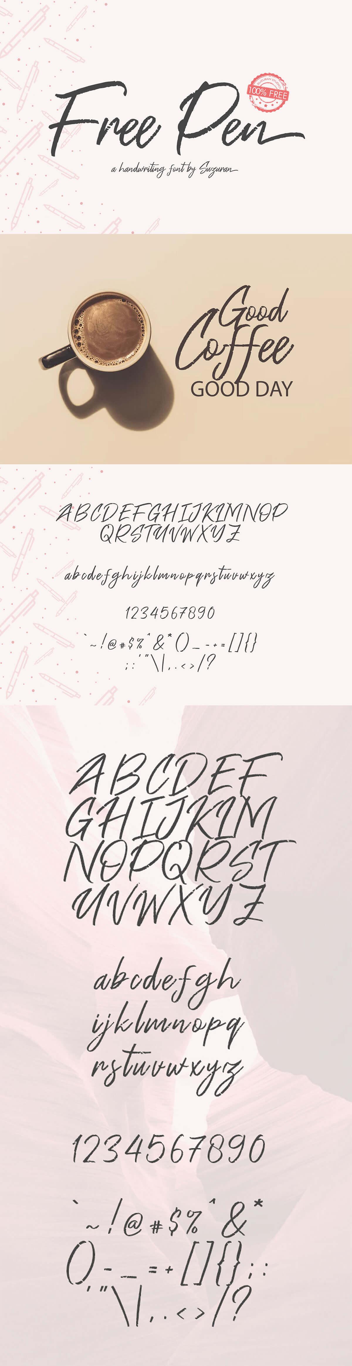 Free Pen Script Font