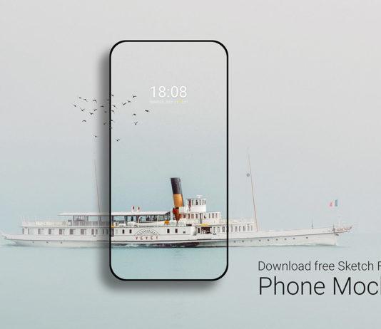 Free Phone Sketch Mockup