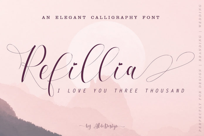 Free Refillia Calligraphy Font