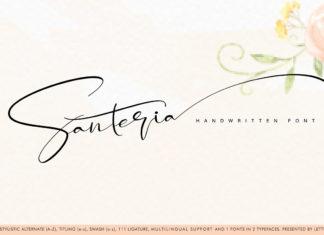 Free Santeria Handwritten Font