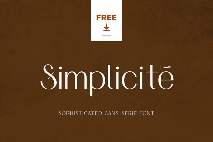 Free Simplicité Sans Serif Font