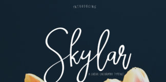 Free Skylar Calligraphy Font Duo