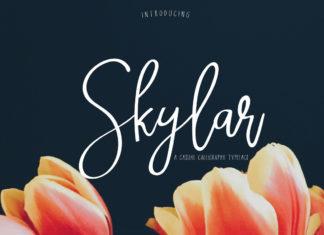 Free Skylar Calligraphy Font Duo