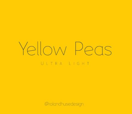 Free Yellow Peas Ultra Light Geometric Sans Serif Font