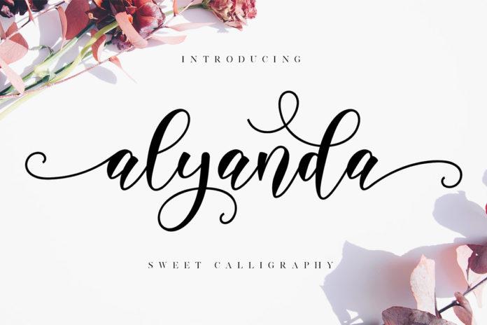 Free Alyanda Calligraphy Font