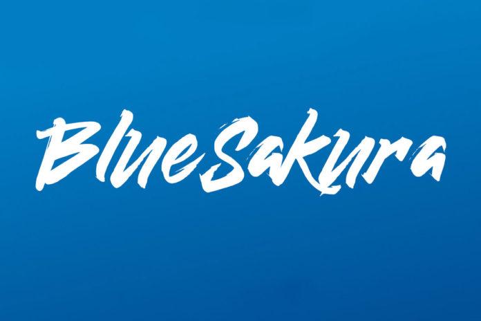 Free Blue Sakura Brush Font