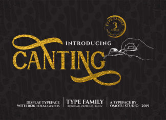 Free Canting Serif Display Font Family