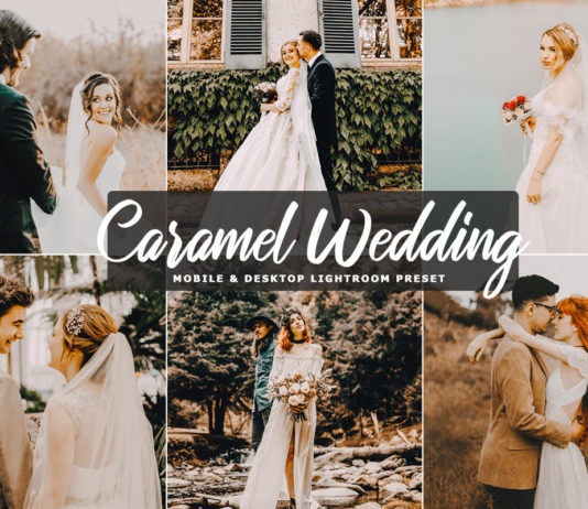 Free Caramel Wedding Lightroom Preset