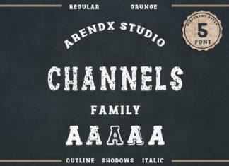 Free Channels Vintage Font