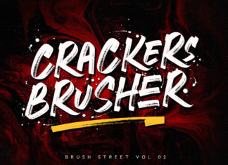 Free Crackers Brusher Brush Font