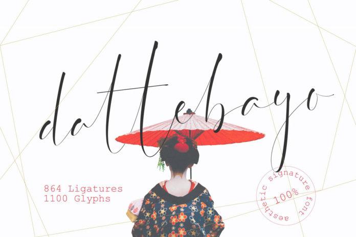 Free Dattebayo Signature Font
