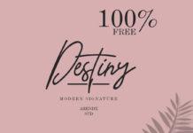 Free Destiny Modern Signature Font