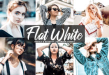 Free Flat White Lightroom Preset