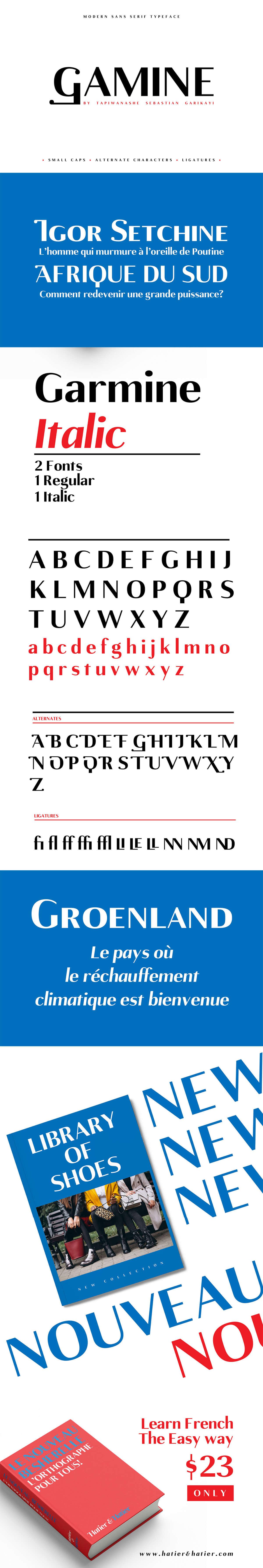Free Gamine Sans Serif Font Family