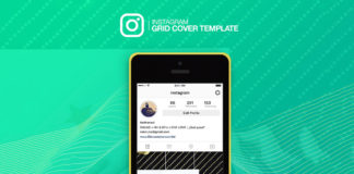 Free Instagram Grid Cover Mockup