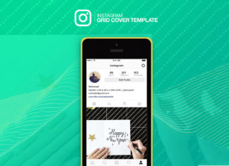 Free Instagram Grid Cover Mockup