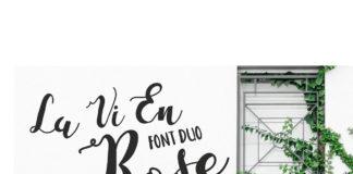 Free La Vie En Rose Script Font