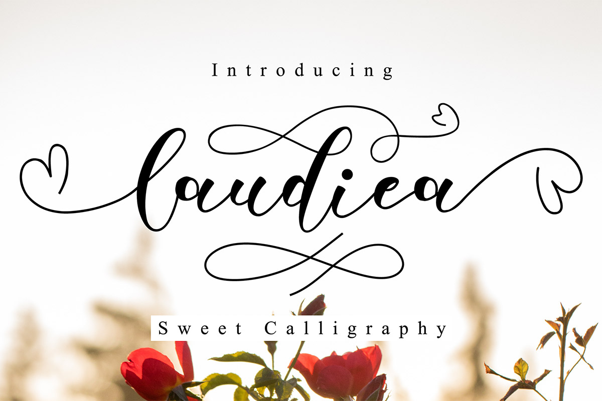 Free Laudiea Sweet Calligraphy Font