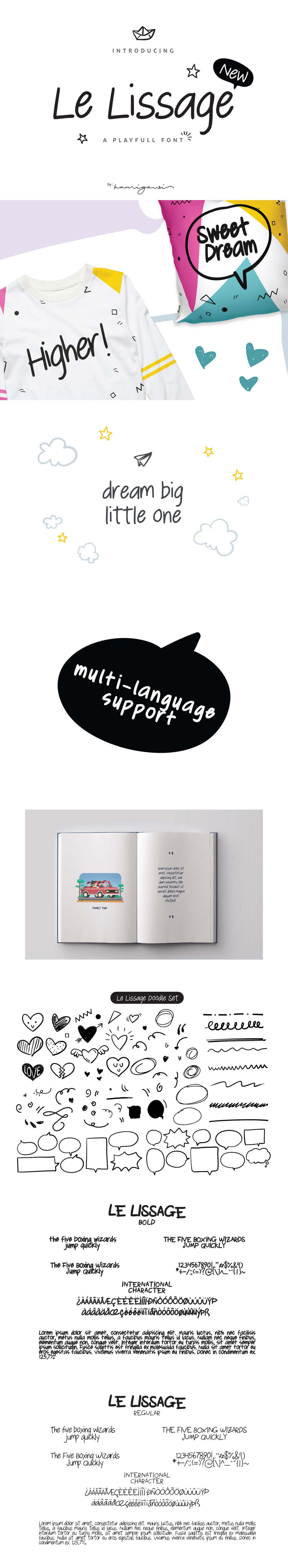 Free Le Lissage Sans Serif Font