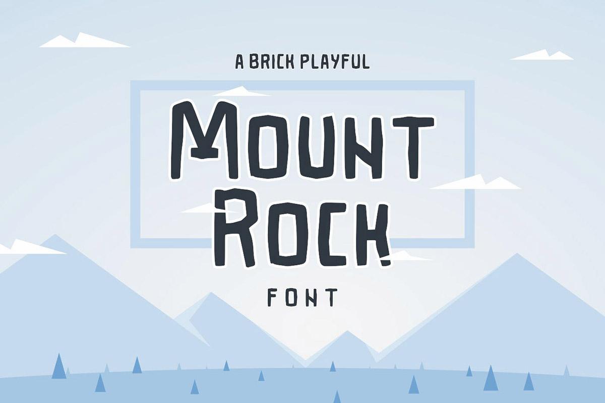 Free Mountrock Summer Camp Font