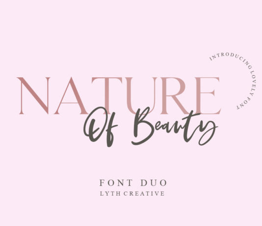 Free Nature of Beauty Font Duo