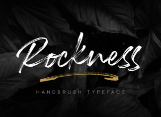 Free Rockness Handbrush Font
