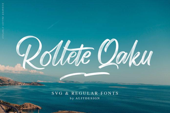 Free Rollete Qaku Script Font