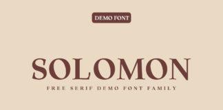 Free Solomon Serif Font Family